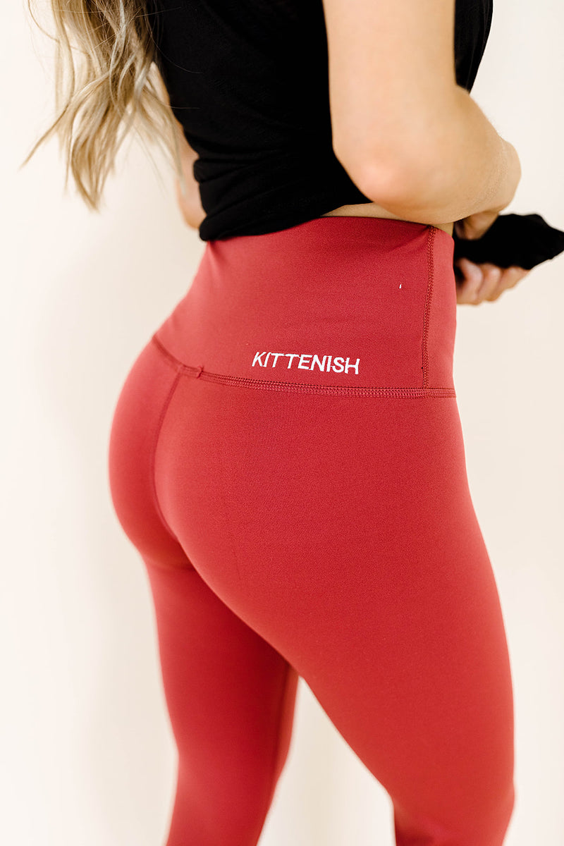 PIPER HIGH WAISTED LEGGING IN ROSE