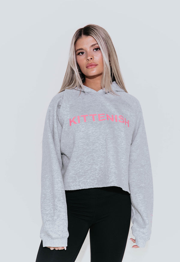 KITTENISH LOGO SWEATSHIRT IN GREY