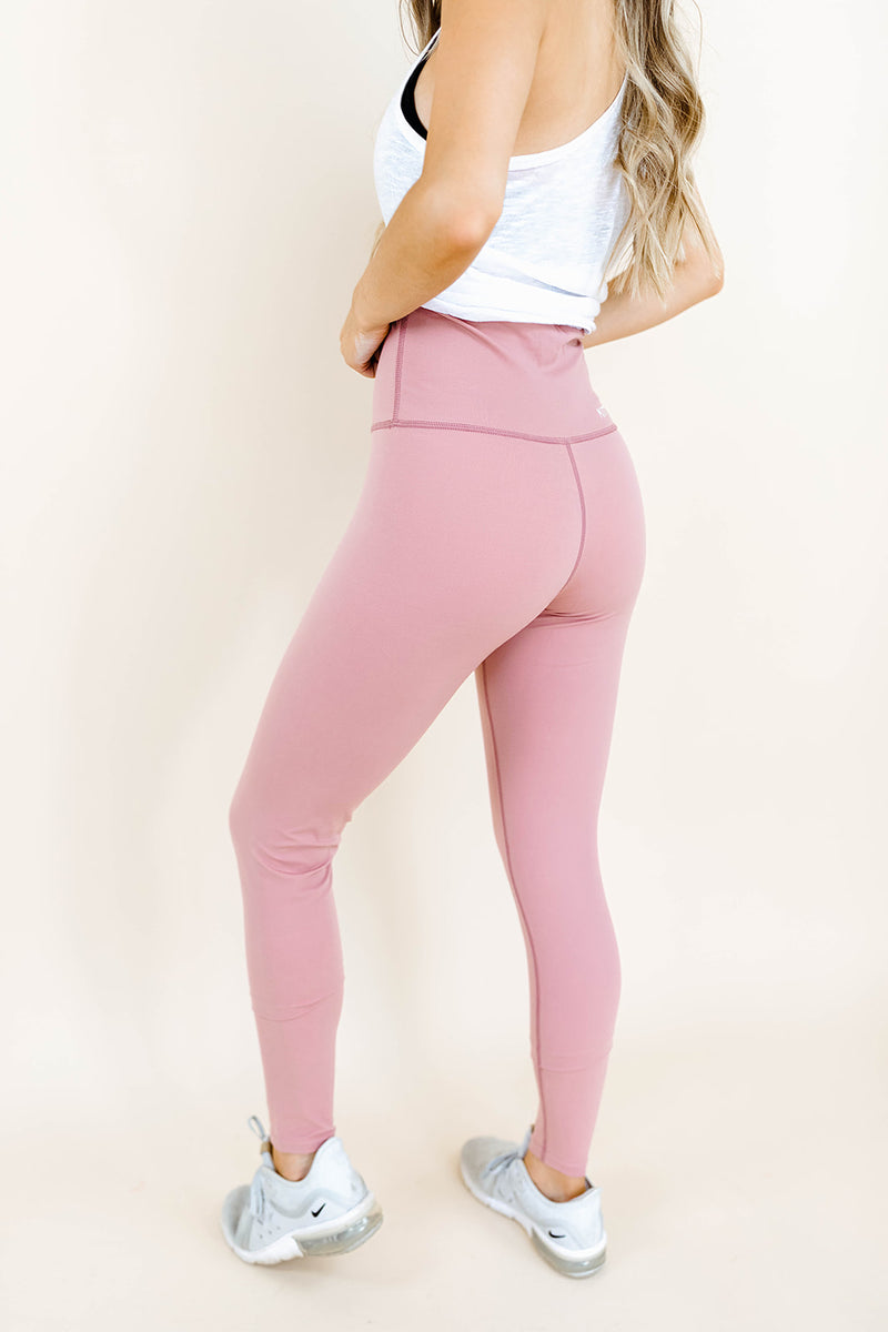 PIPER HIGH WAISTED LEGGING IN BLUSH