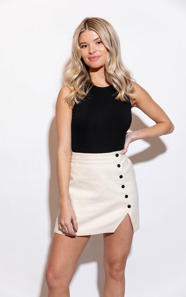 HAZEL CREAM SKIRT