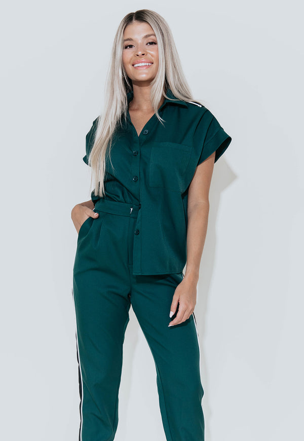 GRACE DEEP TEAL TOP