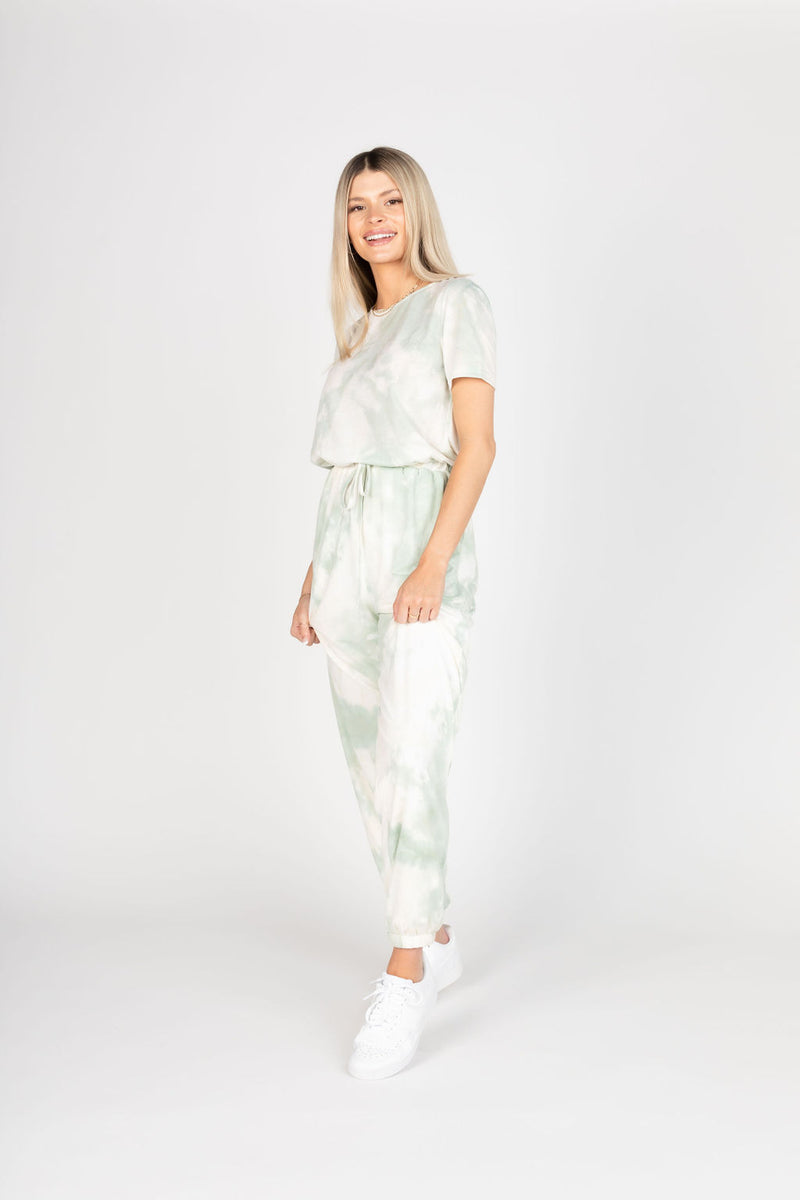 COTTON CANDY TIE DYE JUMPSUIT