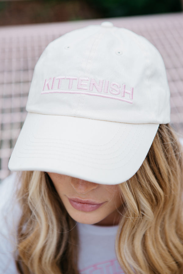 KITTENISH BALL CAP IN CREAM