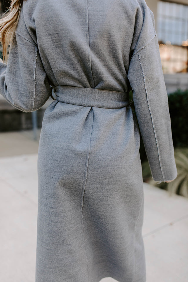 CYNTHIA GREY WRAP COAT
