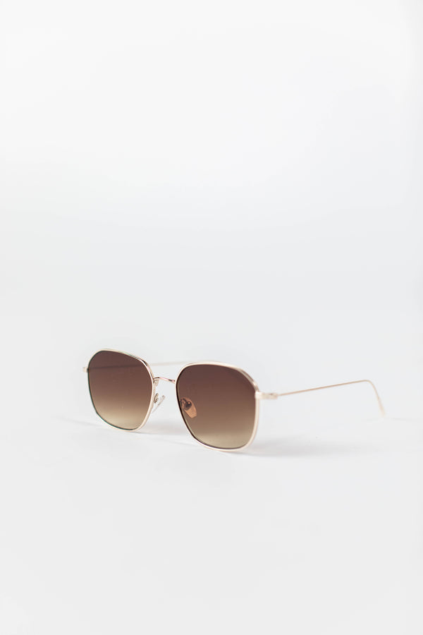TUSCANY ROUNDED SUNGLASSES IN BROWN