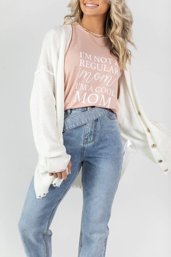 ZOEY OVERSIZED LIGHTWEIGHT WHITE CARDIGAN