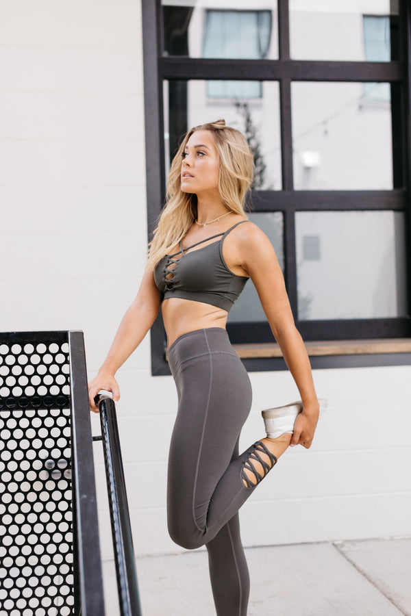MADISON DARK OLIVE LEGGINGS
