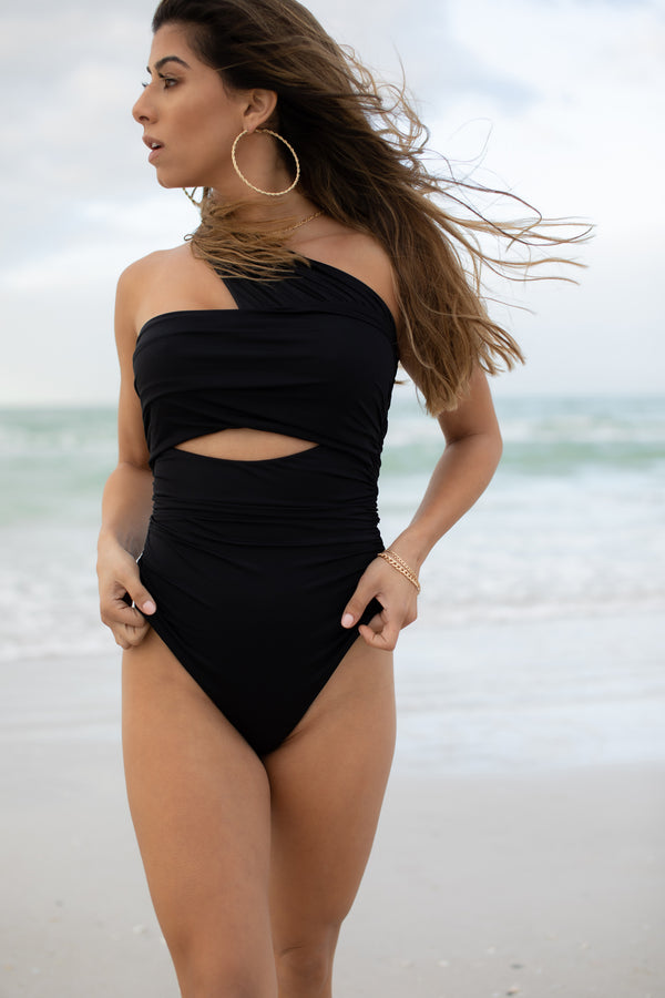 MAUI BLACK ONE PIECE SWIMSUIT