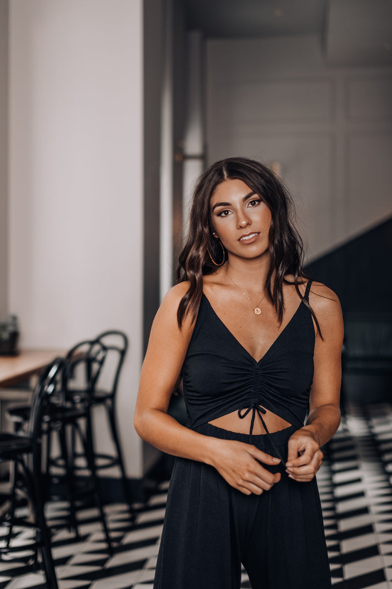 ESSENTIAL BLACK JUMPSUIT