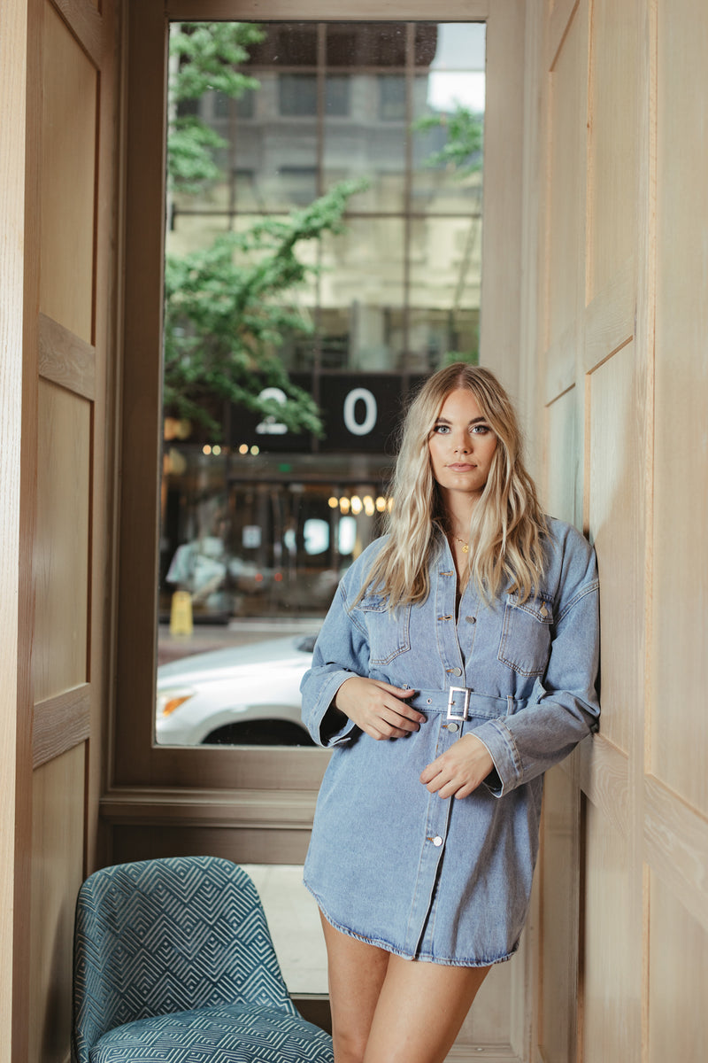 CITY BABE DENIM DRESS