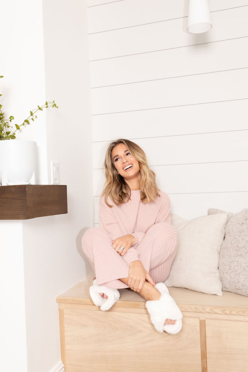 LENA BLUSH COZY PANTS