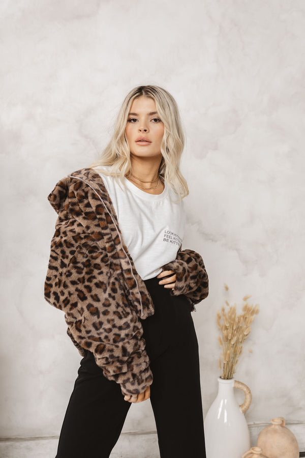 LUXE LEOPARD BOMBER
