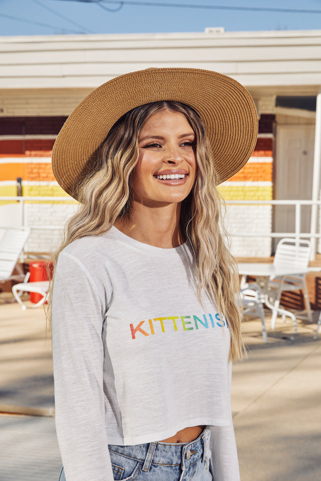 KITTENISH RAINBOW LONG SLEEVE LOGO TEE