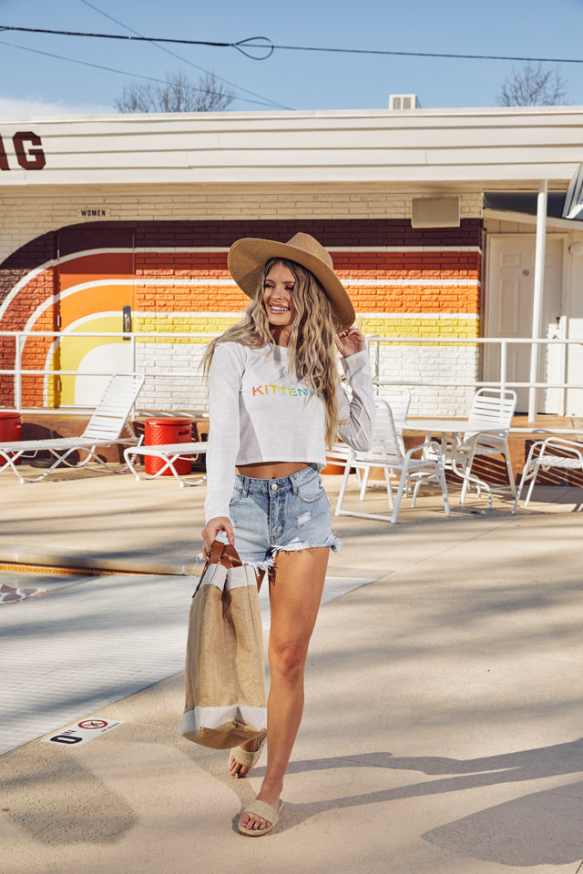 MALIBU DENIM CUT OFF SHORTS