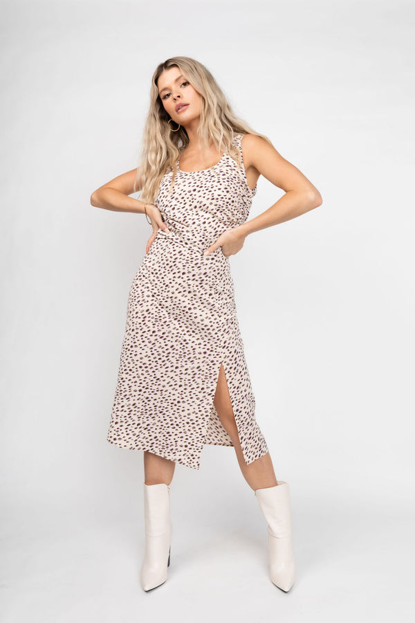 CICI CREAM LEOPARD SKIRT