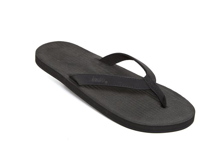 Indosole Mens Essntls Thongs Black
