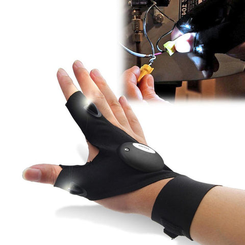 Amazing Fingerless Flashlight Glove