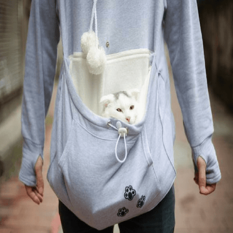 Comfy Pet Hoodie With Kangaroo Cuddle Pouch