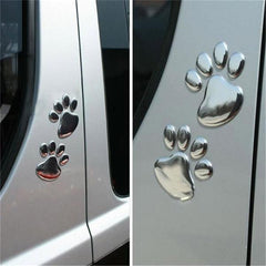 Paw Print Car Decal