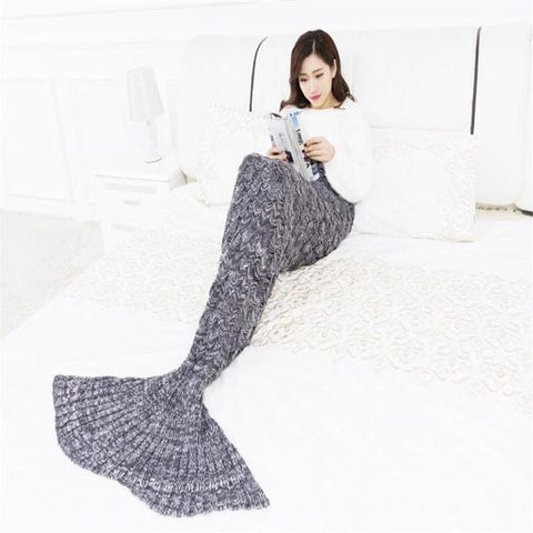 Amazing Knitted Mermaid Blanket