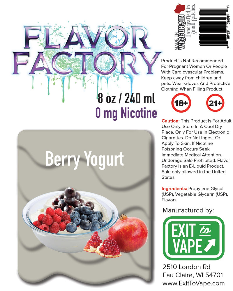 Flavor Factory E-Juice - Berry Yogurt - AZARA VAPE