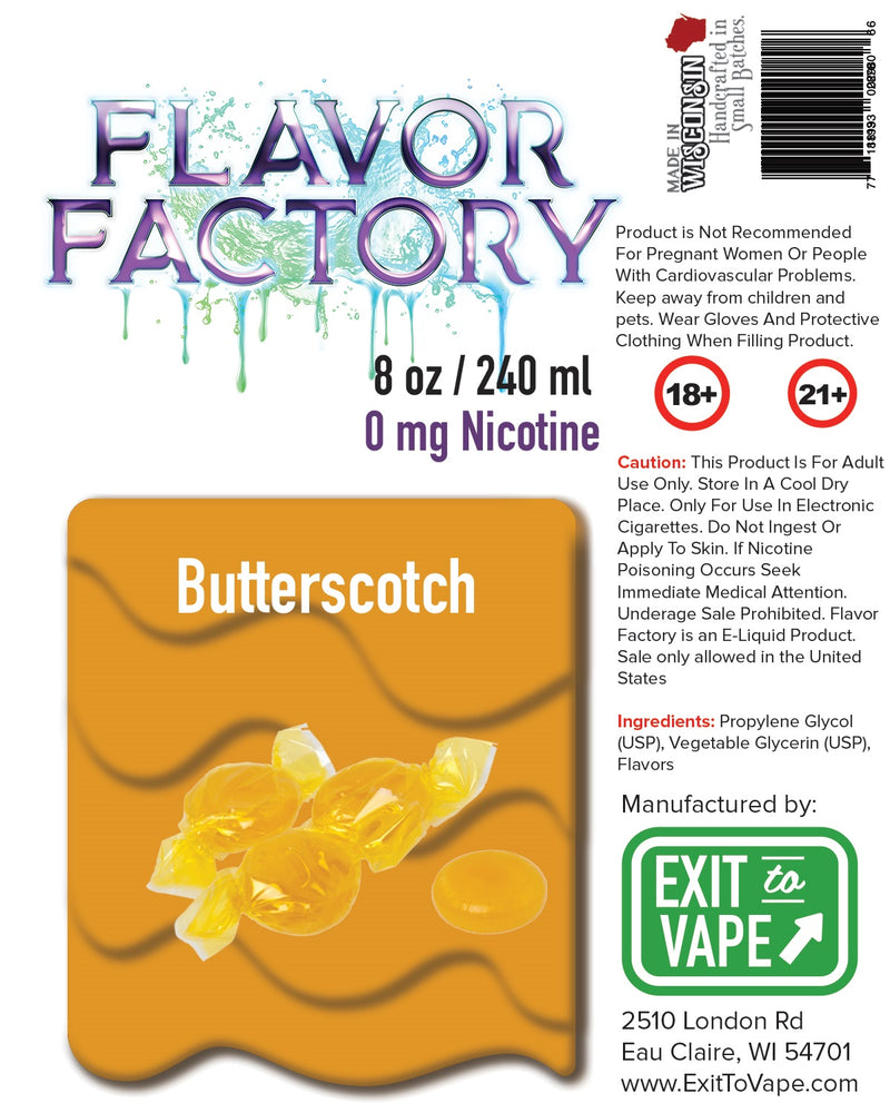 Flavor Factory E-Juice - Butterscotch - AZARA VAPE