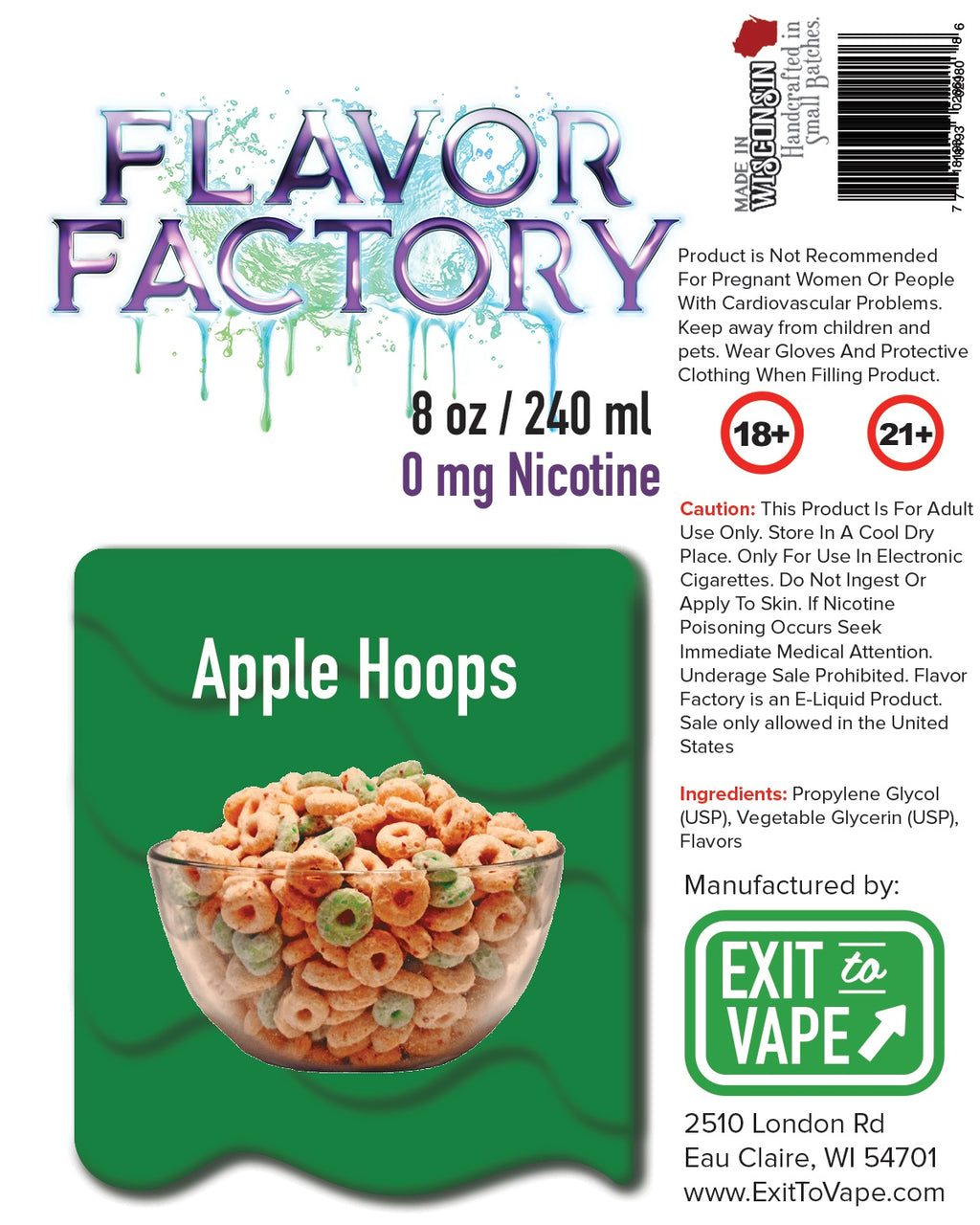 Flavor Factory E-Juice - Apple Hoops - AZARA VAPE