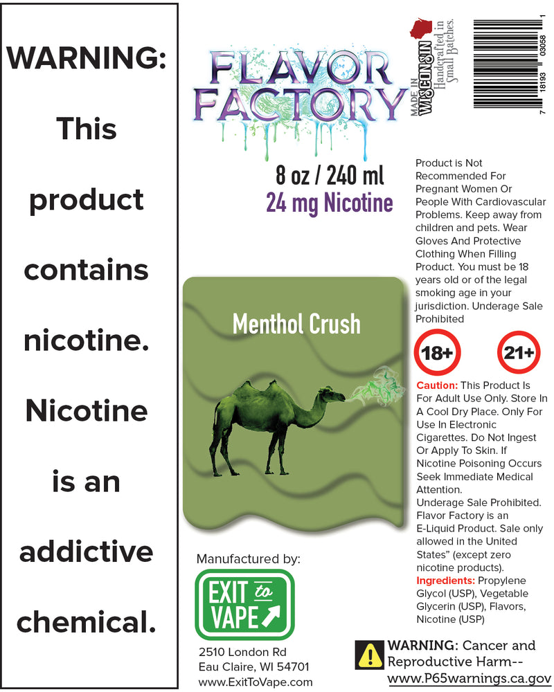 Flavor Factory E-Juice - Menthol Crush