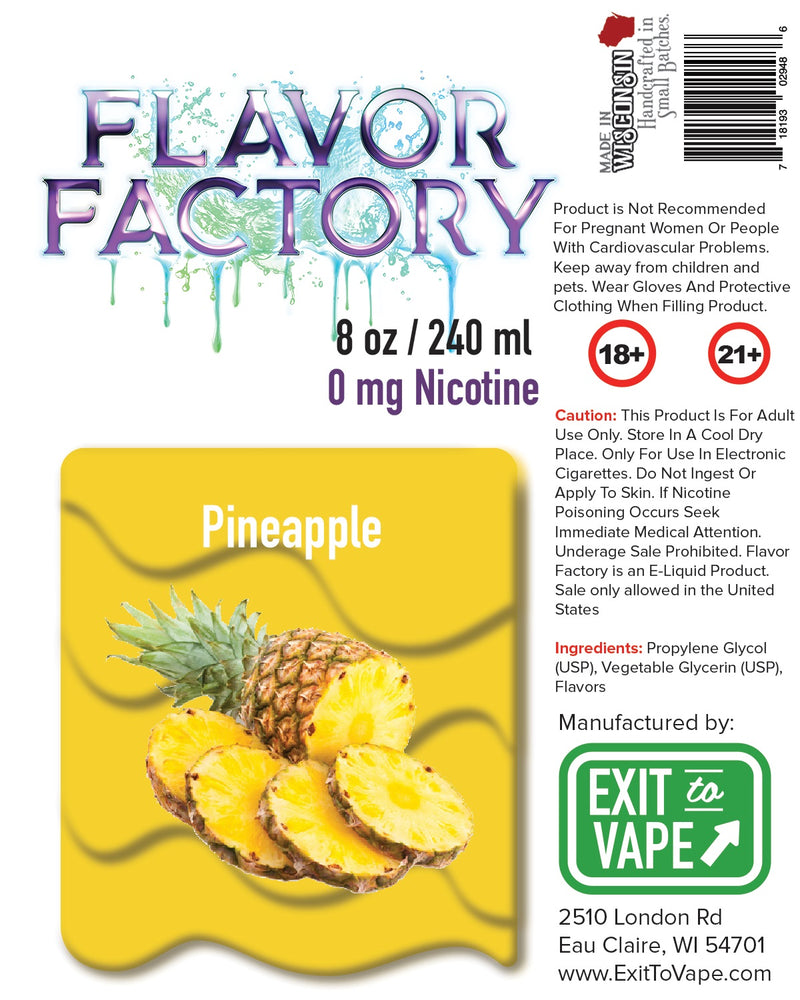 Flavor Factory E-Juice - Pineapple - AZARA VAPE