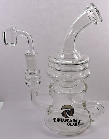 "Tsunami ""Globe"" Water Pipe w/FREE THERMAL QUARTZ BANGER"