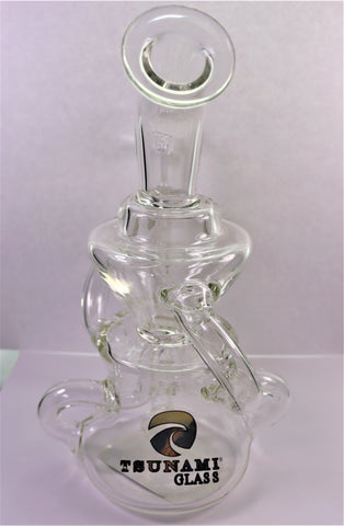"Tsunami ""Globe Plus"" Water Pipe w/FREE THERMAL QUARTZ BANGER"
