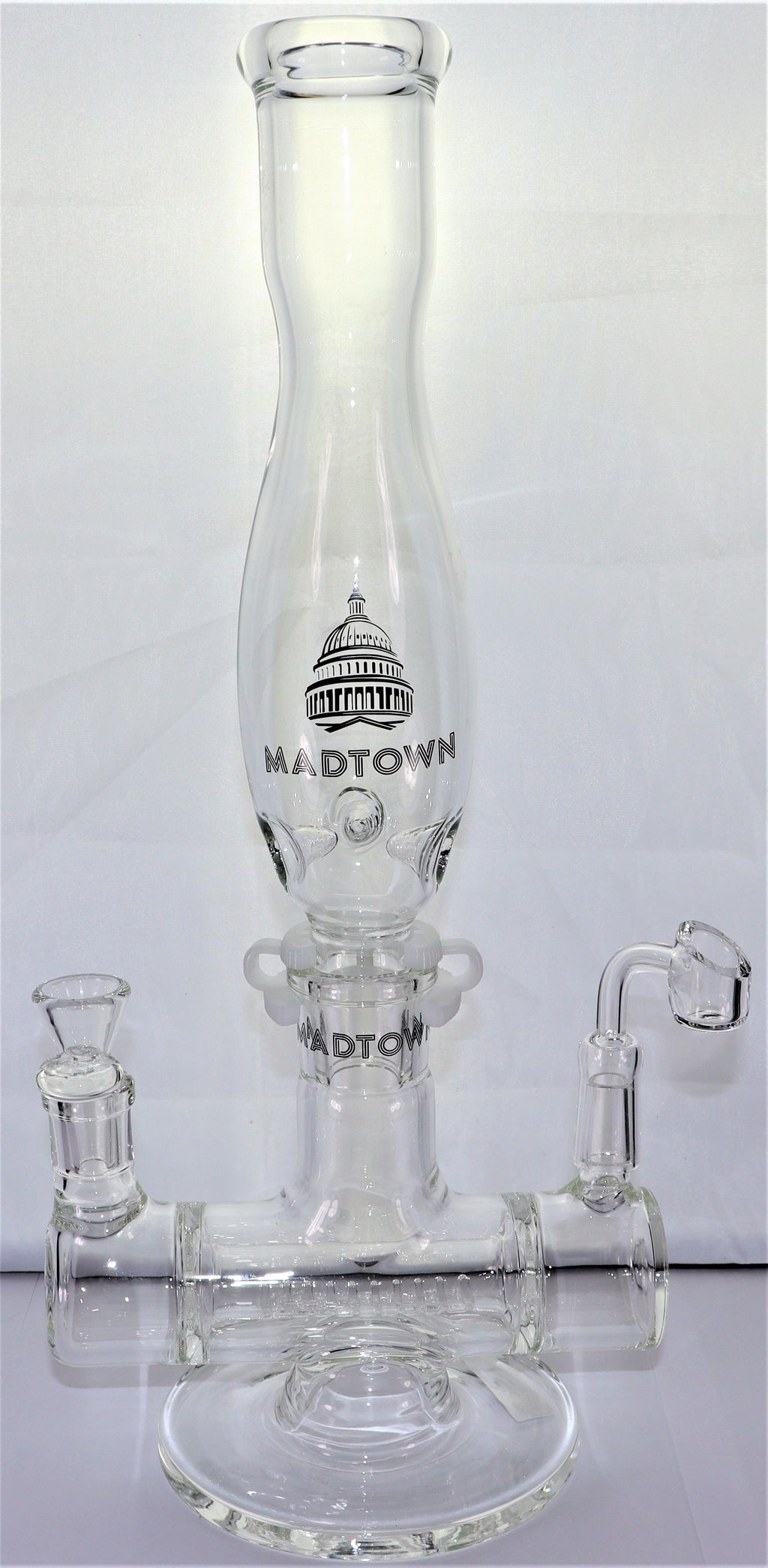 Madtown Water Pipe - Double Barrel - AZARA VAPE