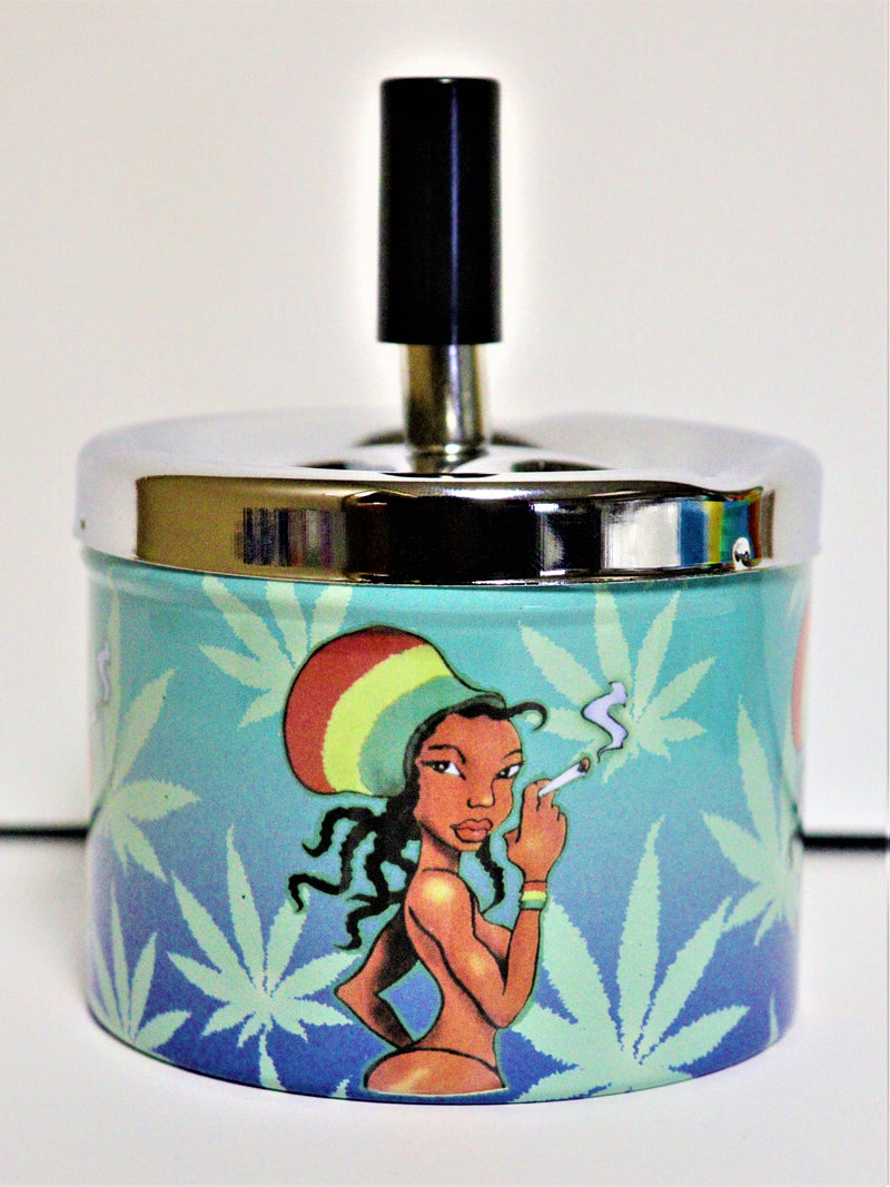 Spin Dump Ashtray - Rasta Chick - AZARA VAPE
