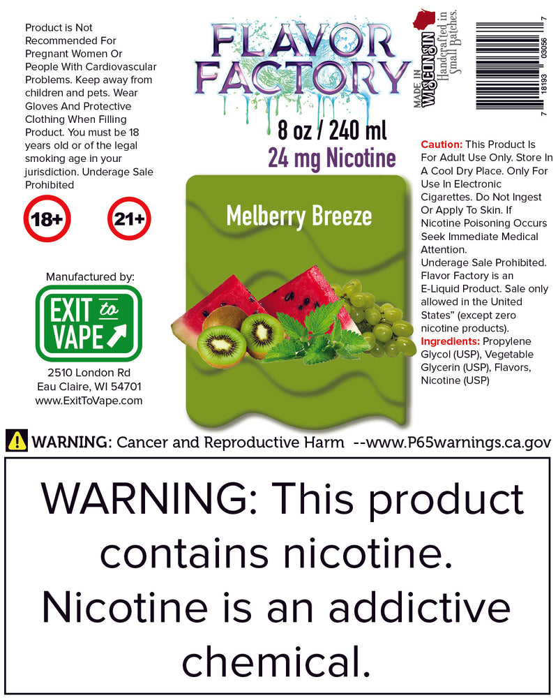 Flavor Factory E-Juice - Melberry Breeze