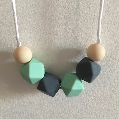 Minty Silicone Teething Necklace - Little Buds Teethers