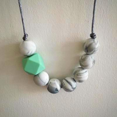 Galaxy Silicone Teething Necklace - Little Buds Teethers