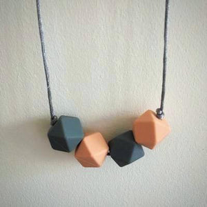 Peachy Silicone Teething Necklace - Little Buds Teethers