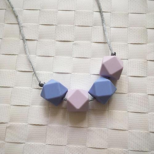 Blueberry Silicone Teething Necklace - Little Buds Teethers
