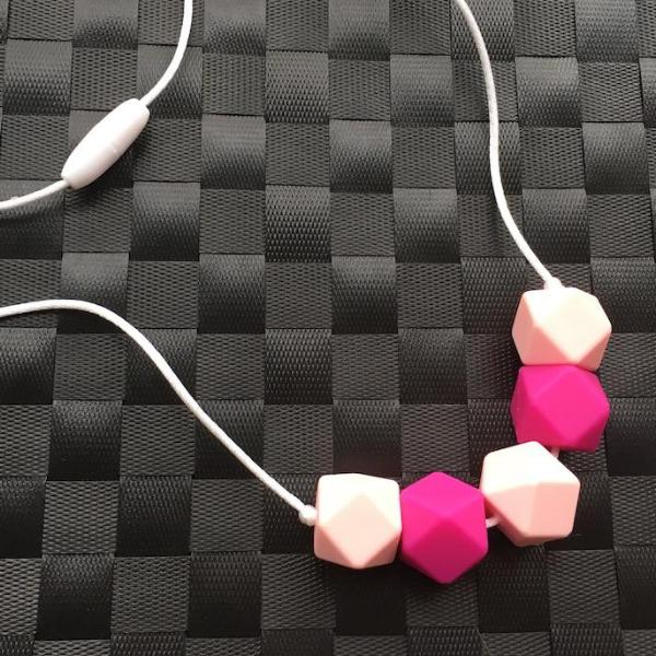 Raspberry Silicone Teething Necklace - Little Buds Teethers