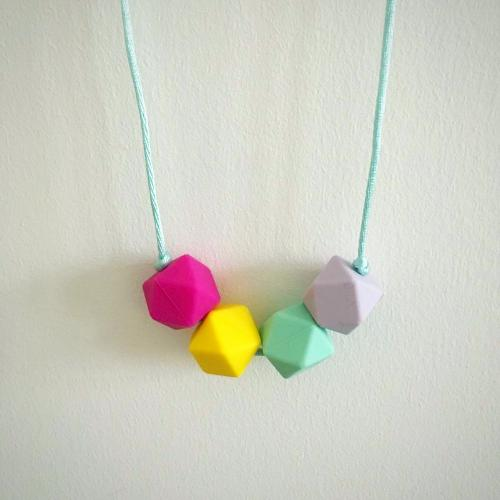 Phoebe Silicone Teething Necklace - Little Buds Teethers