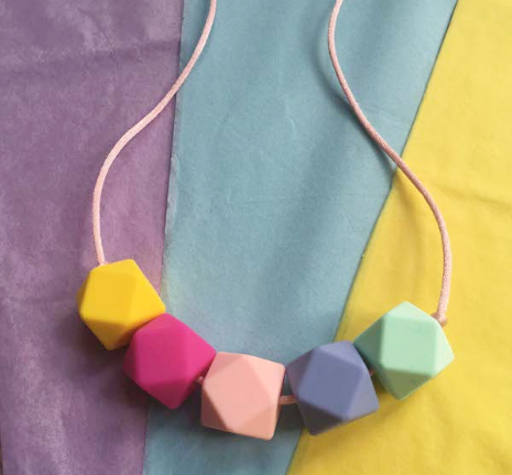 Unicorn Silicone Teething Necklace - Little Buds Teethers