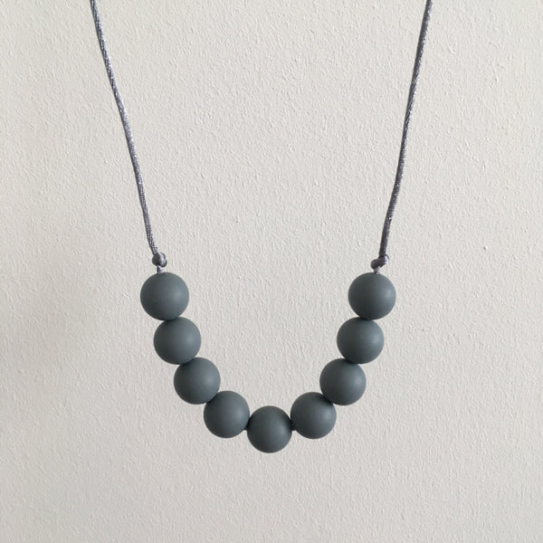 Pure Grey Teething Necklace - Little Buds Teethers