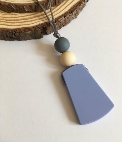 Blue Pendant Teething Necklace