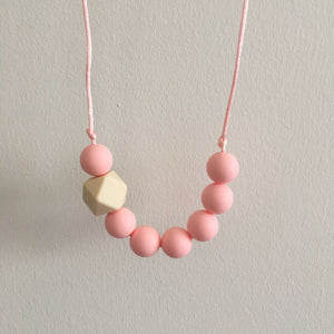 Blush Teething Necklace - Little Buds Teethers