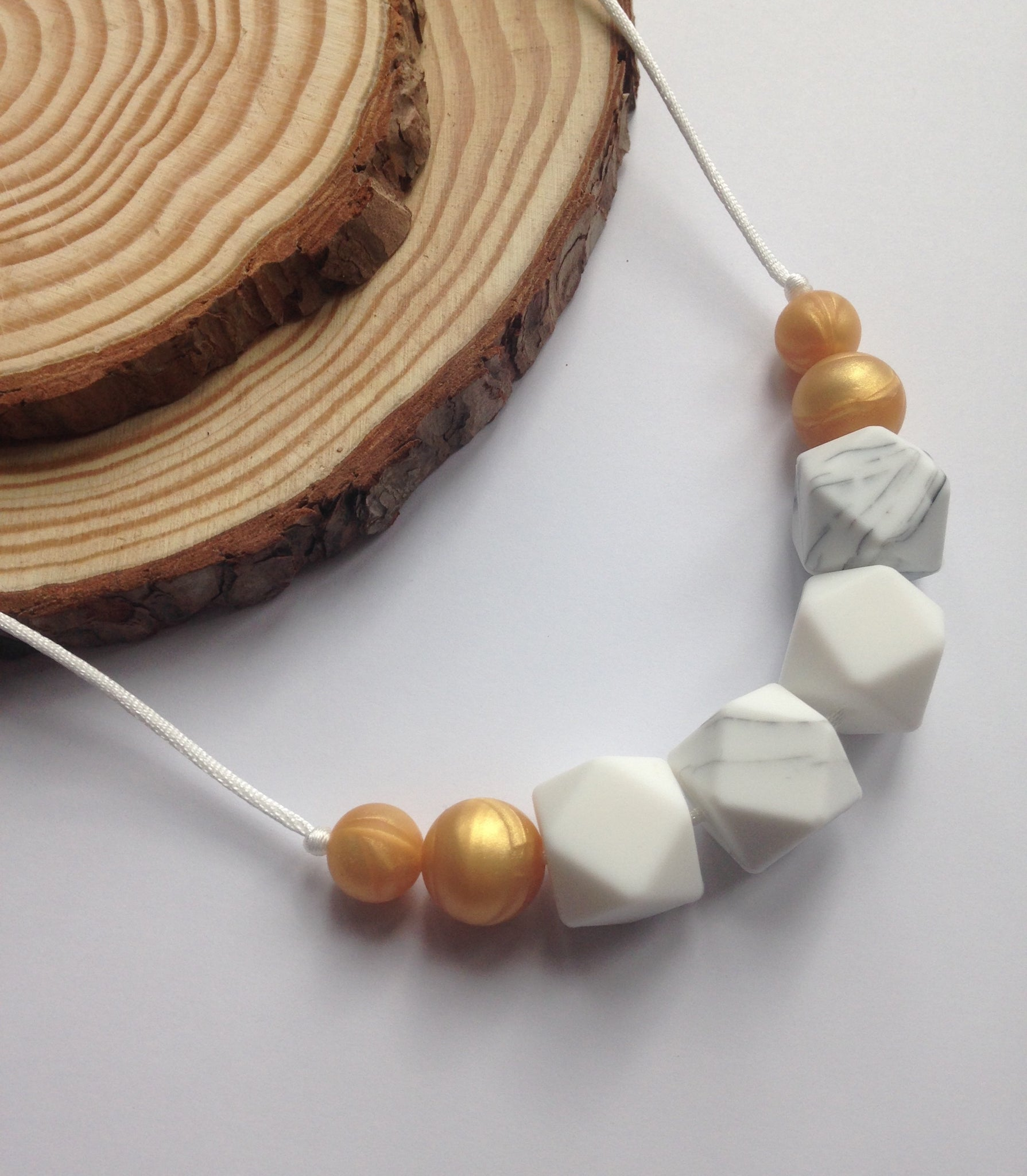 Champagne Teething Necklace