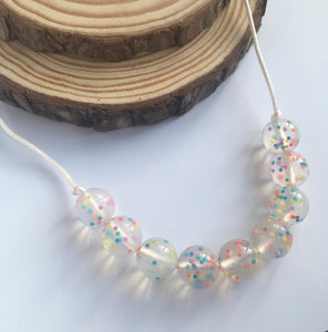 Rainbow Spherical Teething Necklace