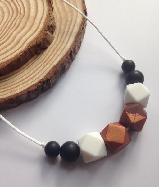 Cappuccino Teething Necklace