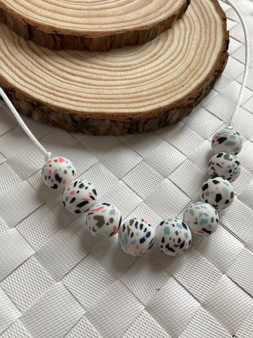 Terrazzo Teething Necklace