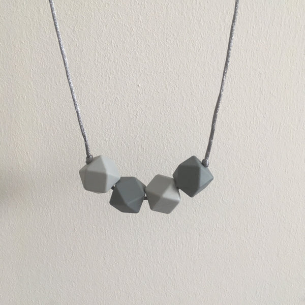 Two Shades of Grey Teething Necklace - Little Buds Teethers