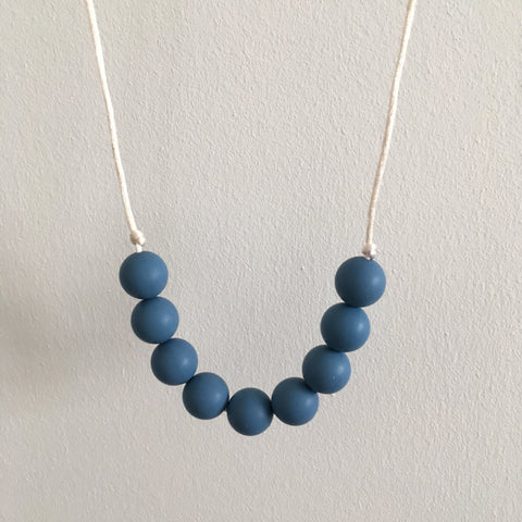 Pure Blue Teething Necklace - Little Buds Teethers